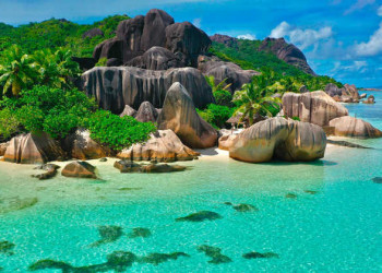 La Digue, Strand Anse Source d'Argent