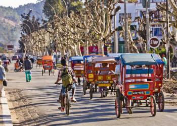Erkundung Antananarivos per Rikscha