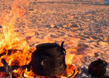 Kochstelle in der Wüste