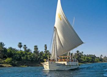Segelschiff Ankh auf dem Nil