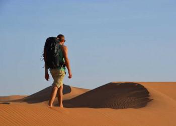 Wanderer in den Dünen