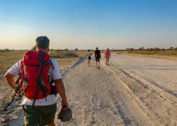 Kleine Wanderung bei Rundu