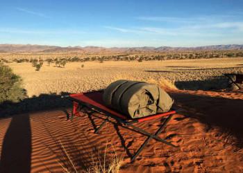 Schlafplatz in der Namibwüste