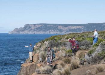 Küstenwanderung in Tasmanien