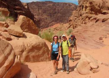 Wanderung durch die Wadi Rum