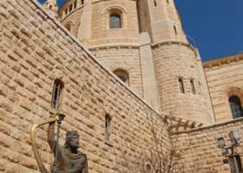 Davidsstatue auf dem Berg Zion