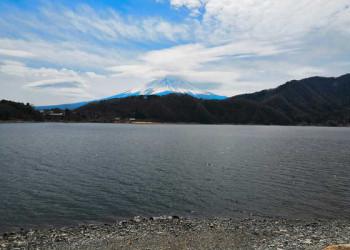 Kawaguchi See mit Blick auf den Fuji