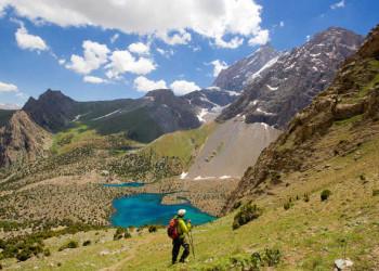 Abstieg zum Alaudin See
