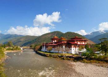 Der Punakha Dzong in Punakha