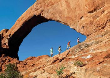 Wanderung im Arches Nationalpark
