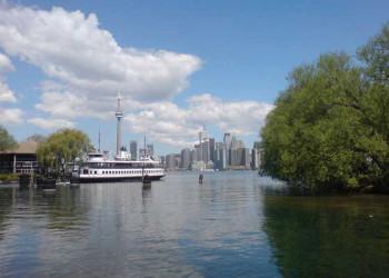 Blick von den Toronto Islands auf die City