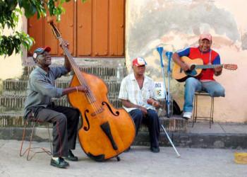 Musizierende Kubaner