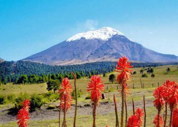 Blick auf den Popocatepetl