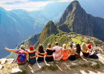 Gruppe in Machu Picchu