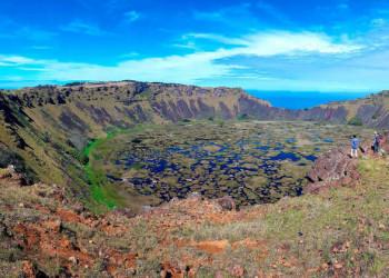 Krater des Vulkans Rano Kao