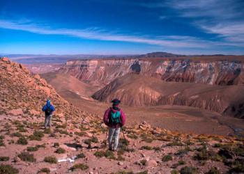Auf dem Weg nach Río Grande während des Wüsten