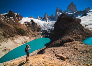 Beliebtes Fotomotiv am Aussichtspunkt der Laguna de los Tres: der berühmte Fitz Roy