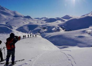 Auf Schneeschuhen zum Geothermalfeld