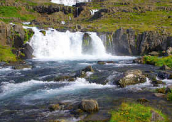 Dynjandi Wasserfall in Islands Westfjorden