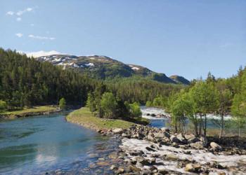 Fluss Sjoa bei Hindsaeter