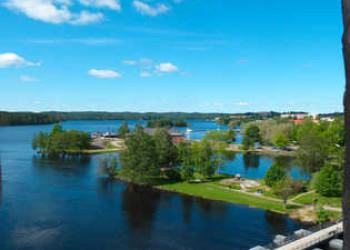 Ausblick von der Burg Olavinlinna