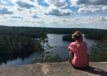 Wanderpause am Saimaa