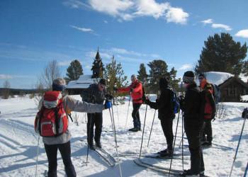 Skigruppe im Golgebirge