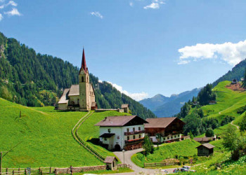 Rabenstein im Passeier, Fernwanderweg E5 von Oberstorf nach Meran