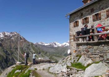 Braunschweiger Hütte am Fernwanderweg E5 von Oberstdorf nach Meran