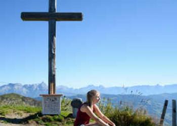 Gipfelpause auf dem Schattberg