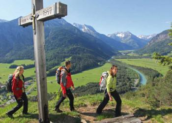 Auf dem Lechweg über dem Lechtal
