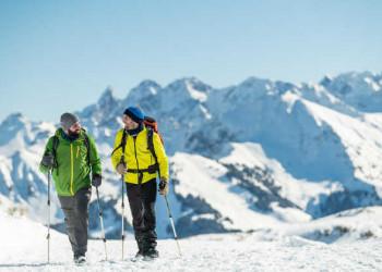 Aktiv in den winterlichen Alpen