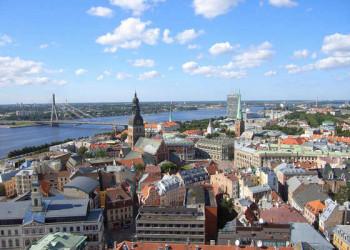 Blick auf die Hansestadt Riga