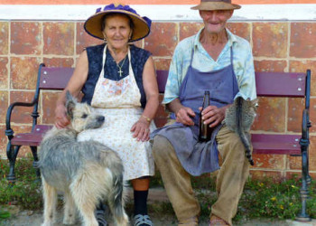 Bauern in Copsa Mare