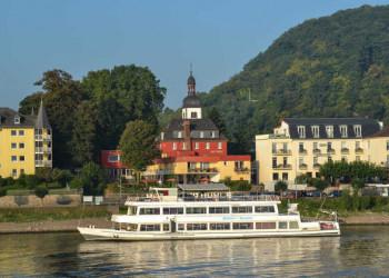 Blick aufs Hotel Zur Mühle