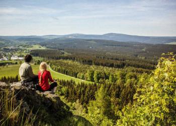 Aussicht im Erzgebirge