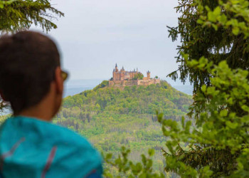 Blick auf Burg Hohenzollern