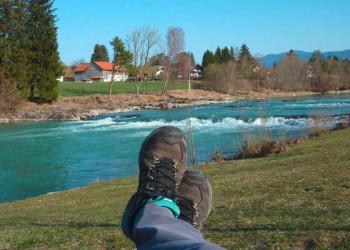 Wanderpause am Lech