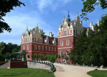 Auffahrt zum Neuen Schloss Bad Muskau
