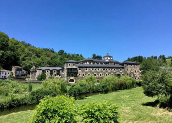 Blick auf Kloster Samos