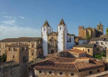 Blick auf Cáceres