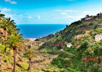 Blick vom Barranco de las Nieves nach Santa Cruz