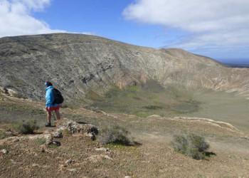 Vulkankrater am Rande des Timanfaya