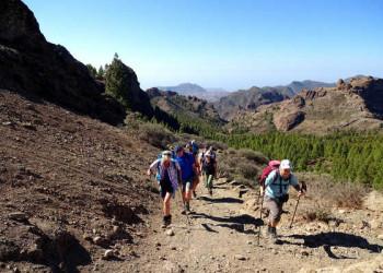 Wandern mit herrlichem Bergpanorama im Rücken