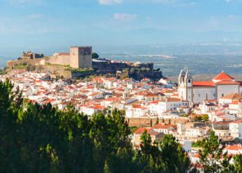 Blick auf Castelo de Vide