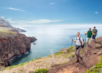 Wanderer auf der Ponta de São Lourenço
