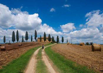Wanderin in der Toskana