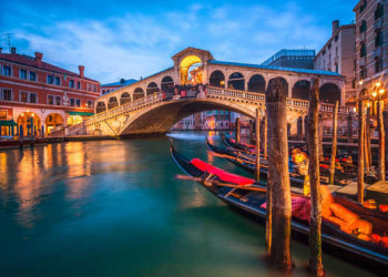 Rialtobrücke , Venedig, Italien