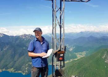 Peter Cremer in Italien auf der Cima d'Oro über dem Ledrosee
