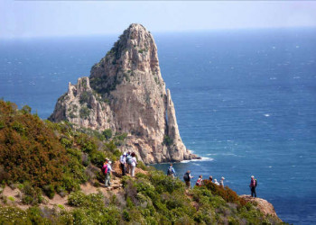 Felsnadel Pedra Longa Ostküste Sardinien